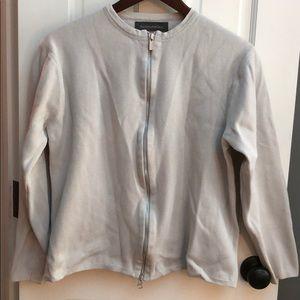 Men's Banana Republic medium tan zip-up sweater